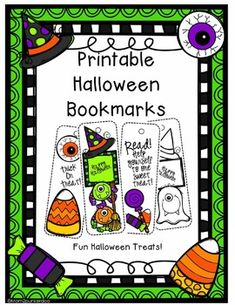 halloween printables bookmarks - Halloween Book Marks