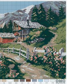 ru / Photo # 3 - Spring in the mountains - mornela Cross Stitch Bookmarks, Cross Stitch Charts, Cross Stitch Designs, Cross Stitch Embroidery, Cross Stitch Patterns, Chicken Cross Stitch, Cross Stitch House, Simple Cross Stitch, Pixel Crochet