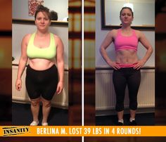 "Berlina M. lost 39 lbs with Insanity! Congrats Berlina! Way to #DIGDEEP!!    ""By doing Insanity I have achieved the body I've always wanted and more! Insanity has helped me with life in general. I now focus on my goals and follow things through the whole way!"""