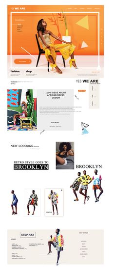 YES WE ARE - Fashion concept (e commerce) Web Design on Behance