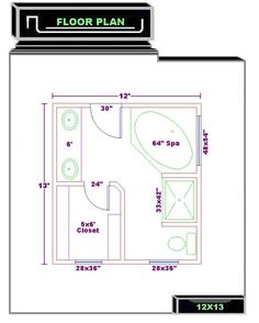 master bath 12x13 floor plan 040910jpg click image to. beautiful ideas. Home Design Ideas