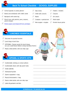 A Back to School Checklist