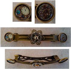 Gold Steampunk Barrette Accessories Fashion Hair Pins Hair Gears  #handmade #Barrette http://www.ebay.com/itm/161512874387?ssPageName=STRK:MESELX:IT&_trksid=p3984.m1555.l2649