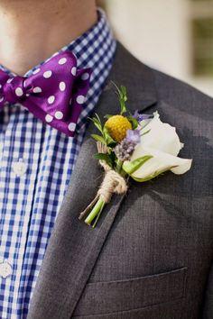 gingham purple groom shirt