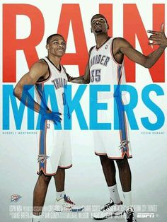 Russell Westbrook #0 & Kevin Durant #35 #KD OKC Thunder #Thunderup