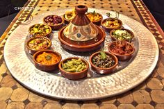 #morocco #tappas Morrocan Food, Moroccan Kitchen, Moroccan Theme, Tagine Cooking, Fish And Meat, Ramadan Recipes, Middle Eastern Recipes, Arabic Food, Food Presentation
