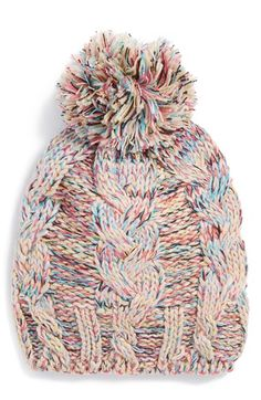 Free shipping and returns on Tucker + Tate Knit Pom Hat (Girls) at Nordstrom.com. A multihued knit hat topped with a playful pom makes for a cozy wintertime essential.