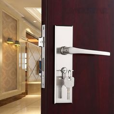 44.72$  Buy here - http://aiokd.worlditems.win/all/product.php?id=32684770047 - Grade A Strength Zinc Alloy Handle Lock Manufacturers 50Lockbody Undertake Wood Door Brass Lockcore Handle-locks