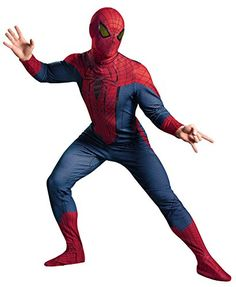 GTH Mens Amazing Spiderman Superhero Theme Party Halloween Deluxe Costume XLarge 4246 -- Want to know more, click on the image.