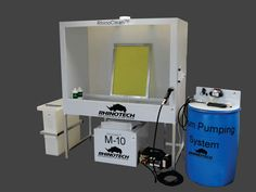 One complete screen cleaning set-up from RhinoTech removes the guess work out of what you need and what is compatible. Screen Printing Supplies, Screen Printing Equipment, Diy Screen Printing, Cleaning Equipment, Transfer Paper, Wash Board, Digital Prints, Printer, Shop Storage