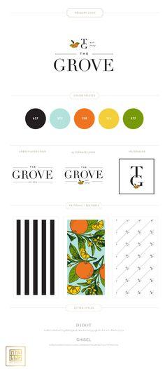 Emily McCarthy Branding | The Grove Branding Board | www.emilymccarthy.com #branding