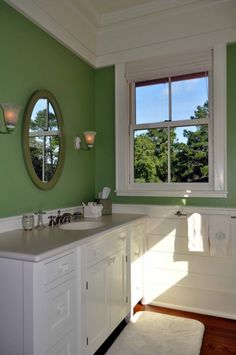 Love this color for a Master bath, and use another green for the Master Bedroom.