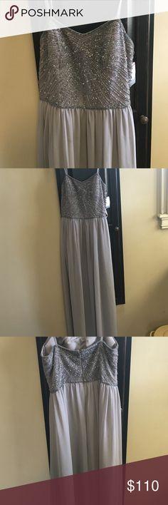 dress Grey prom/bridesmaid dress. Has straps and still has tags. Size 4 David's Bridal Dresses Prom