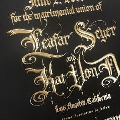 See details from Kat Von D and Rafael Reyes' wedding ceremony in Los Angeles this weekend, June Unique Wedding Invitations, Rustic Invitations, Kat Von D, Wedding Save The Dates, Save The Date Cards, Scissors Design, End Of The Week, Gothic Wedding, Hand Lettering