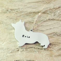 welsh corgi dog necklace dog pendant best friend Birthday Gift pet memorial gift dog charm Animal Lover Jewelry925 sterling silver