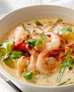 Oosters stoofpotje van scampis en groenten recept