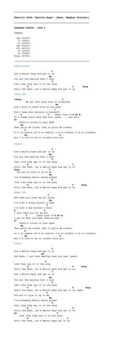 "Charlie Puth ""Marvin Gaye"" feat. Meghan Trainor — CHORDISTRY"