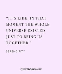 When the universe brings it together in a crazy unexpected way...that's when you know it'll never end!