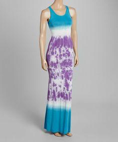 Another great find on #zulily! Blue & Purple Tie-Dye Maxi Dress #zulilyfinds