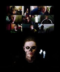 Actor Evan Peter and Character Tate Langdon. American Horror Story has really showed his acting potential, I can't help but sympathetic towards his character even though he's kind of twisted. His acting has really, really grown on me.. handsome man!