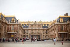 Courtyard of Versailles Palace