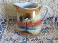 Old Made in Japan Lusterware  Pitcher by Daysgonebytreasures, $16.00