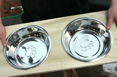 Great instructions on how to make an elevated dog bowl stand. Love this idea.