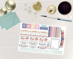 Pinning so I don't forget!! Remember to go back and check out Crafted By Corley on Etsy. Time for Tea - Transform My Planner Erin Condren Vertical Life Planner Sticker Happy Planner Sticker Sticker Set Tea Party Sticker Set by CraftedByCorley