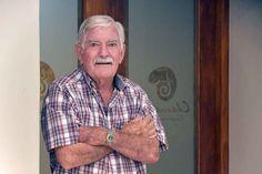 Ted Jordan, the father of Gary Jordan and Jordan Wines, Stellenbosch. Photographed at Jordan's Assyrtiko wine tasting