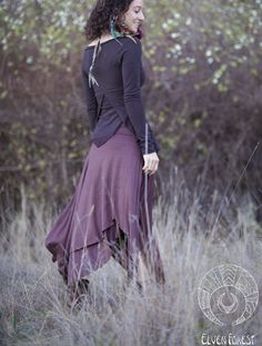 https://flic.kr/p/f3rwW8 | Long Pixie Skirt by Elven Forest Creations | This is a longer version of our classic pixie skirt - double layered, with lots of fabric, and four panels falling from the waistband. Edges are raw, and fabric flows freely as you walk or twirl <3  Perfect for festivals or to be worn casually in the city. You will always be comfortable and stand out with this one!  View in our Etsy shop to purchase (: www.etsy.com/listing/111837978/long-pixie-skirt-in-dark-o...