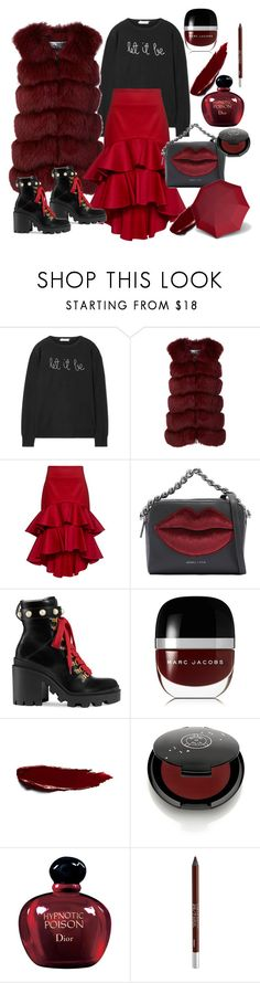 """Bez naslova #176"" by theoryoffashion ❤ liked on Polyvore featuring Lingua Franca, Cara Mila, Alexis, Kendall + Kylie, Gucci, Marc Jacobs, Rituel de Fille, Christian Dior, Urban Decay and Knirps"