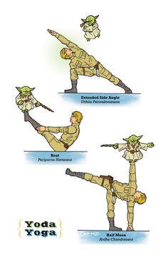 Amazing - Star Wars yoga.