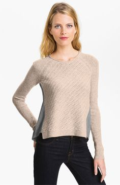 Rebecca Taylor Two Tone Sweater (Online Exclusive) available at #Nordstrom