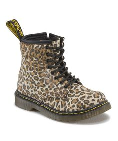 Love this Tan Leopard Brooklee Boot - Kids by Dr. Martens on #zulily! #zulilyfinds
