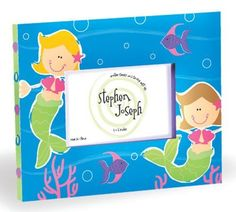 Mermaid Picture Frame by Stephen Joseph, http://www.amazon.com/gp/product/B00918JQV6/ref=cm_sw_r_pi_alp_7nJnqb0ZSCWE7