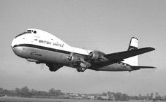 "British United Air Ferries Aviation Traders Carvair G-ASDC ""Pont du Rhin"" that transports Goldfinger from Southend to Geneva Cargo Aircraft, Passenger Aircraft, Military Aircraft, Aviation Image, Civil Aviation, Douglas Dc 4, British Airline, Cargo Airlines, Pacific Airlines"