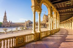 Spain Square (Plaza de Espana) in Seville, built on it is one example of the Regionalism Architecture mixing Renaissance and Moorish styles. 10 Best Places to Visit in Spain Lonely Planet, Dubrovnik, Malaga Airport, Europe Continent, Sun Holidays, Free Things To Do, New City, City Break, Best Cities