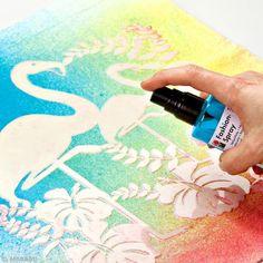 A l'aide de pochoirs et de votre peinture textile en spray Marabu, personnalisez à volonté vos vêtements !