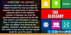 What Is Adoption Tax Credit? Definition, Limit & Eligibility – Finance tips for small business Income Statement, Financial Statement, Tax Refund, Tax Deductions, What Is Adoption, Full Time Equivalent, 360 Degree Feedback, Excel Tips