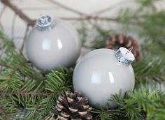 Make+Your+Own+Glass+Ornaments | Make your own ornaments, using clear glass ornaments and acrylic paint ...