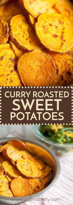 Curry Roasted Sweet Potatoes is the perfect recipe for an afternoon snack or side dish, lightly sweet and with unexpected curry flavor the are sure to please.