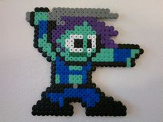 Guardians of the Galaxy - Gamora (Mega Man style) perler beads by Björn Börjesson