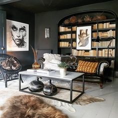 study with chesterfield sofa - Google Search