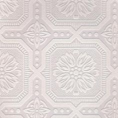 Graham & Brown 56 sq. ft. 1 Double Roll Small Ceiling Tile Paintable White Wallpaper-12024 - The Home Depot