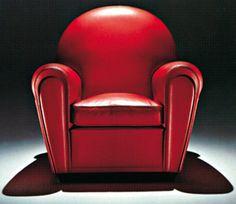 Vanity Fair Leather Armchair - 1930 - Design by Renzo Frau - Art Deco - @~ Mlle