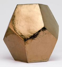 Crackled Gold Hexagonal Ceramic Stool Suitable for Outdoors Also Available in Turquoise or Blue, Macox.  Use gold with black furniture