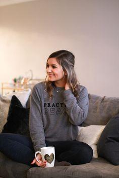 Practice Peace (+ giveaway - CorePower Yoga sweatshirt)