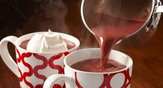 Red Velvet Hot Chocolate: Get cozy with a mug of this rich red velvet-tinted hot chocolate. Serve with a decadent dollop of vanilla whipped cream, if desired. [Sponsored by McCormick]