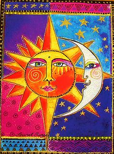 Laurel Burch Sun and Moon   (Sun and Moon  Day and Night)