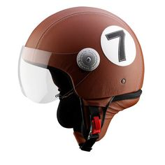 """Andrea Cardone is an Italian brand that produces cutting-edge athletic silhouettes at their Neapolitan workshop. This sale features motorcycle helmets, vintage leather bags and billiard-inspired looks for pool rats. Soak up the fruits of Andrea Cardone's labor—this brand has a half-century's experience in producing striking, luxury goods.No. 7 Leather Helmet (Small: 22"""" Dia)"""